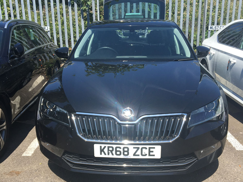 Skoda Saloon (Black) - COVID-19 Safety Measure at Cannons Chauffeur Services